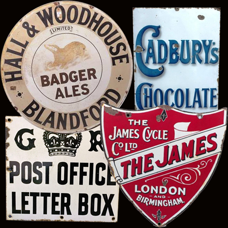 Birmingham : Advertising Signs manufactured by the Patent Enamel Works on Bradford Street