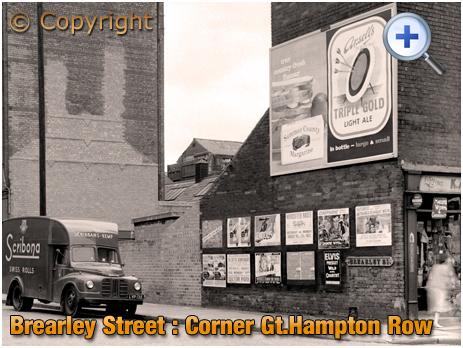 Birmingham : Radiator Repairs on the corner of Brearley Street and Hockley Street [1961]