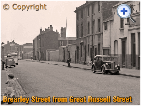 Birmingham : Brearley Street from Great Russell Street at Hockley [1961]