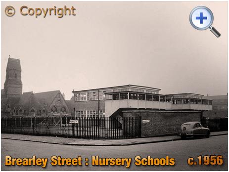 Birmingham : Nursery Schools on the corner of Brearley Street and Hospital Street at Hockley [c.1956]
