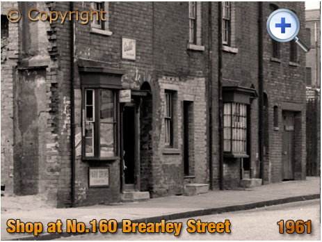 Birmingham : Tobacco and Sweets Shop on Brearley Street at Hockley [1961]