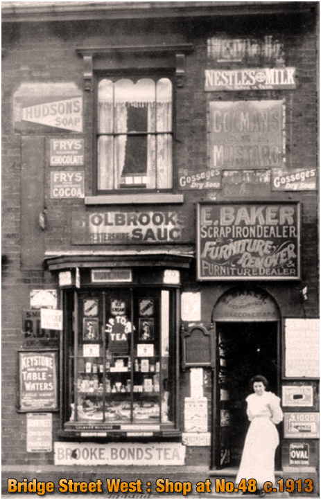 Birmingham : Birmingham : Tobacconist's Shop of Edward and Mary Baker at No.48 Bridge Street West in Hockley [c.1913]