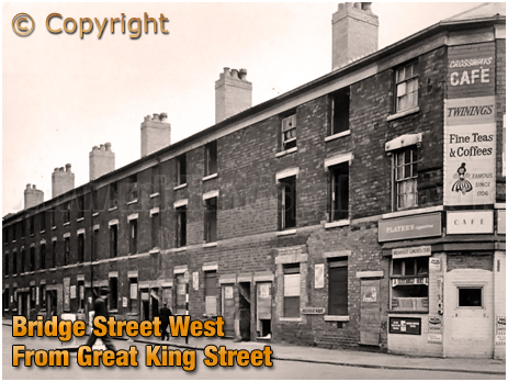 Birmingham : Bridge Street West from Great King Street in Hockley [c.1966]