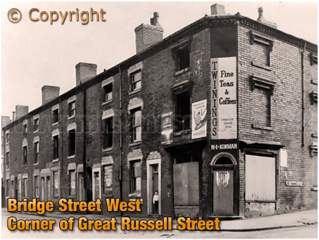 Birmingham : Corner of Bridge Street West and Great Russell Street in Hockley [c.1966]