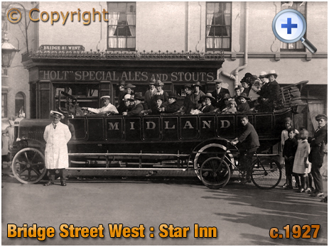 Birmingham : The Star Inn on the corner of Well Street and Bridge Street West in Hockley [c.1927]