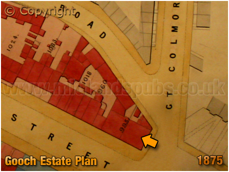 Birmingham : Gooch Estate Plan showing the Bell Inn on Bristol Street [1875]
