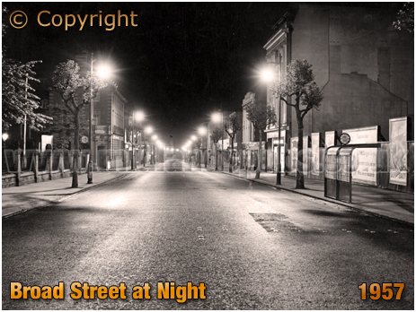 Birmingham : Broad Street at Night [1957]