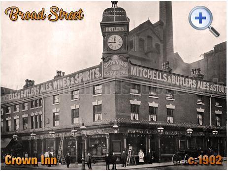Birmingham : Crown Inn and Brewery on Broad Street [c.1902]