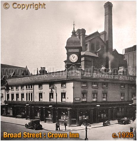 Birmingham : Crown Inn and Brewery on Broad Street [c.1926]