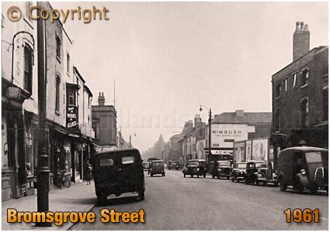 Birmingham : Bromsgrove Street looking towards junction of Hurst Street [1961]