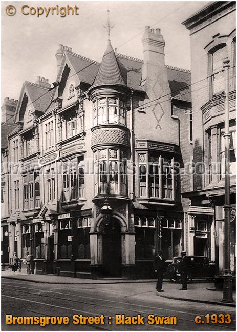 Birmingham : Black Swan Hotel on the corner of Bromsgrove Street and Market Street [c.1933]