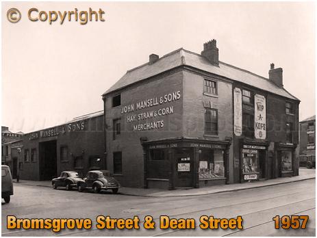 Birmingham : John Mansell & Sons on the corner of Bromsgrove Street and Dean Street [1957]