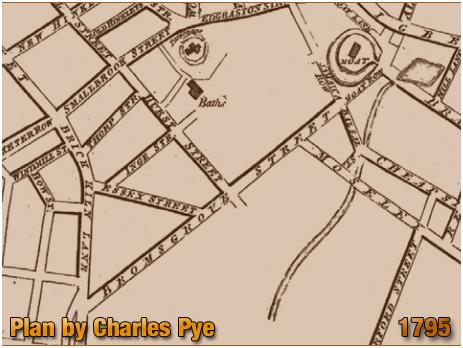 Plan by Charles Pye showing Bromsgrove Street [1795]