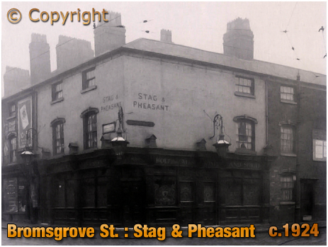 Birmingham : Stag and Pheasant on the corner of Bromsgrove Street and Pershore Street [c.1924]