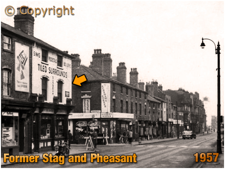 Birmingham : Former Stag and Pheasant on the corner of Bromsgrove Street and Pershore Street [c.1957]