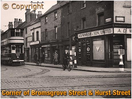 Birmingham : Wimbush Bakery Shop on the corner of Bromsgrove Street and Hurst Street [c.1950]