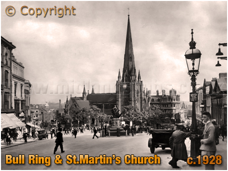 Birmingham : Bull Ring and Saint Martin's Church [c.1928]