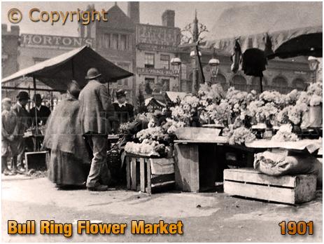 Birmingham : Bull Ring Flower Market [1901]