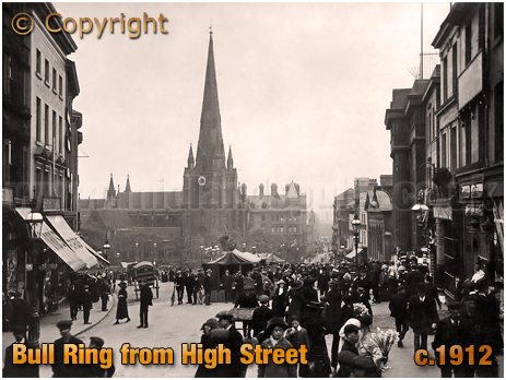 Birmingham : Bull Ring from High Street [c.1912]