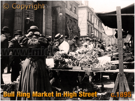 Birmingham : Bull Ring Market in High Street [c.1895]