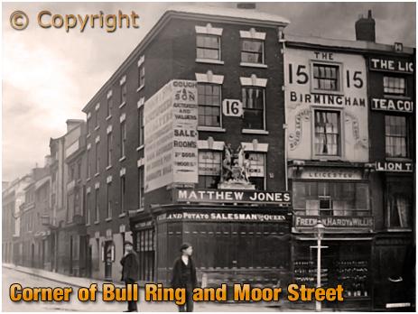 Birmingham : Corner of Bull Ring and Moor Street [c.1900];