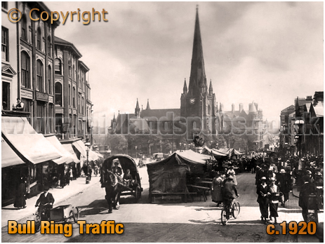 Birmingham : Busy Traffic in the Bull Ring [c.1920]