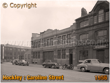 Birmingham : Caroline Street Cars and Factory [1956]
