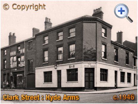 The Hyde Arms on the corner of Clark Street and Hyde Street at Ladywood in Birmingham [c.1946]