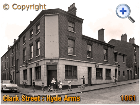 The Hyde Arms on the corner of Clark Street and Hyde Street at Ladywood in Birmingham [1961]