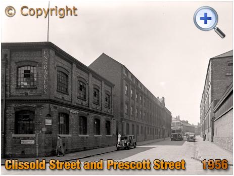 Birmingham : Clissold Street from the junction of Prescott Street in Brookfields [1956]