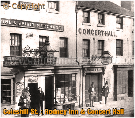 Birmingham : Rodney Inn and Concert Hall in Coleshill Street [c.1865]