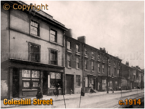 Birmingham : Shops and Housing on Coleshill Street [c.1914s]