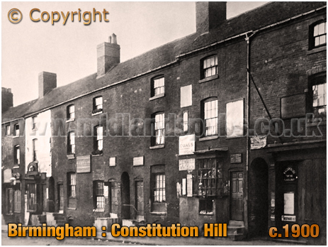 Birmingham : Shops on Western Side of Constitution Hill [c.1900]