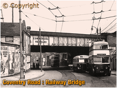 Birmingham : Railway Bridge over Coventry Road at Bordesley [c.1950s]