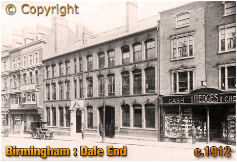 Birmingham : Shops and Warehouses on Dale End [c.1912s]