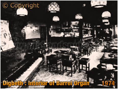 Interior of the Barrel Organ at Digbeth in Birmingham [1974]