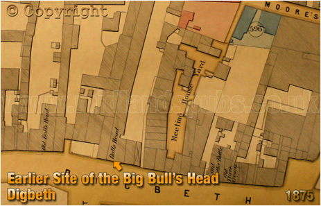 Plan Showing the location of the Big Bull's Head [1875]