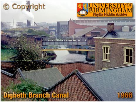 Birmingham : Digbeth Branch Canal by Phyllis Nicklin [1968]