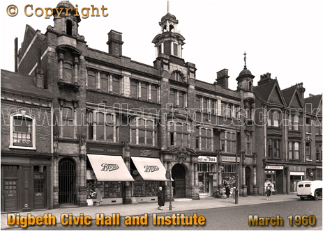 Digbeth Civic Hall and Institute in Birmingham [1960]