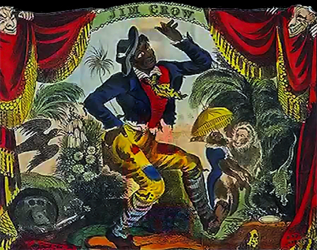 Thomas Rice as Jim Crow at the Bowery Theatre in New York [1833]