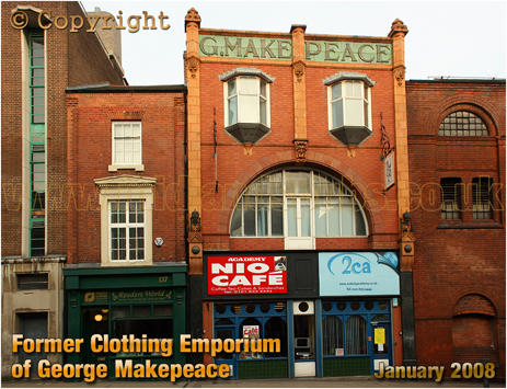 Former Clothing Emporium of George Makepeace at Digbeth in Birmingham [2008]