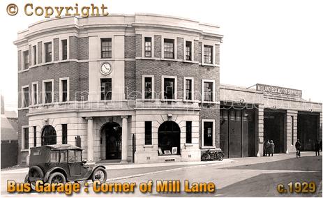 Digbeth Omnibus Garage on the corner of Mill Street and Digbeth in Birmingham [c.1929]
