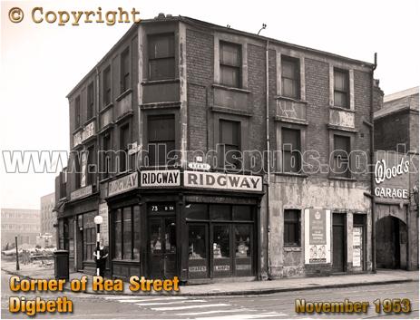 Corner of Digbeth and Rea Street in Birmingham [1953]