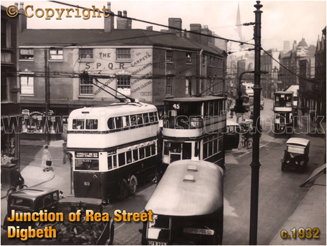 Junction of Digbeth and Rea Street in Birmingham [c.1932]