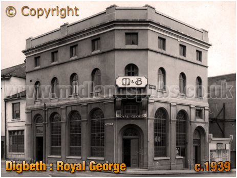 Birmingham : The Royal George on the corner of Digbeth and Park Street at Digbeth [c.1939]