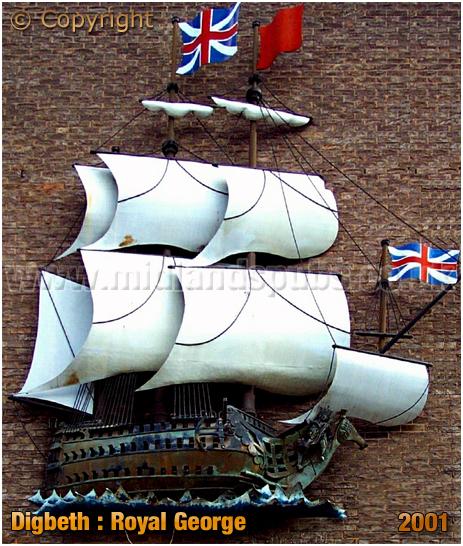 Inn Sign of the Royal George at Digbeth in Birmingham [2001]