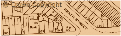 Birmingham : Plan extract showing street numbering at the junction of Dudley Road and Heath Street at Winson Green [1918]