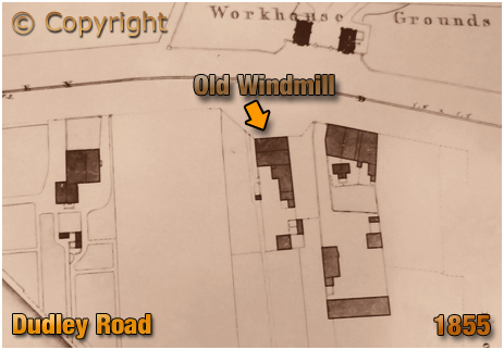 Birmingham : Piggot Smith Plan showing the Old Windmill Inn on Dudley Road at Winson Green [1855]