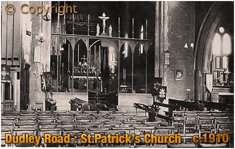 Birmingham : Interior of Saint Patrick's Church on Dudley Road at Winson Green [c.1910]