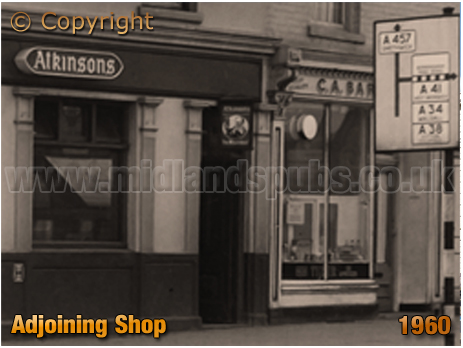 Shop adjacent to the Wheatsheaf Inn on the corner of Dudley Road and Icknield Port Road at Winson Green in Birmingham [1960]